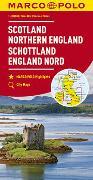 MARCO POLO Karte Großbritannien Schottland, England Nord 1:300 000. 1:300'000