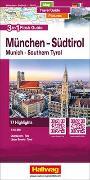 München-Südtirol-Oberbayern-Tirol Flash Guide Strassenkarte 1:175 000. 1:175'000 von Hallwag Kümmerly+Frey AG (Hrsg.)