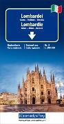 Lombardei Reisekarte Italien Nr. 2, 1:200 000. 1:200'000 von Hallwag Kümmerly+Frey AG (Hrsg.)