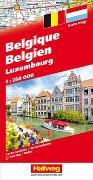 Belgien / Luxemburg Strassenkarte 1:250 000. 1:250'000 von Hallwag Kümmerly+Frey AG (Hrsg.)