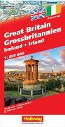 Grossbritannien / Irland Strassenkarten 1:850 000. 1:850'000 von Hallwag Kümmerly+Frey AG (Hrsg.)