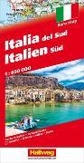 Italien Süd Strassenkarte 1:650 000. 1:650'000 von Hallwag Kümmerly+Frey AG (Hrsg.)