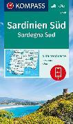 KOMPASS Wanderkarte Sardinien Süd, Sardegna Sud. 1:50'000 von KOMPASS-Karten GmbH (Hrsg.)