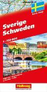 Schweden Strassenkarte 1:750'000. 1:800'000 von Hallwag Kümmerly+Frey AG (Hrsg.)