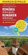 MARCO POLO Länderkarte Rumänien, Republik Moldau 1:800 000. 1:800'000