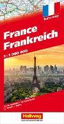 Frankreich Strassenkarte 1:1 Mio. 1:1'000'000 von Hallwag Kümmerly+Frey AG (Hrsg.)