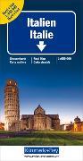 Italien Nord + Süd Strassenkarte. 1:650'000 von Hallwag Kümmerly+Frey AG (Hrsg.)