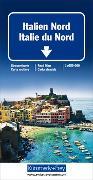 Italien Nord Strassenkarte. 1:650'000 von Hallwag Kümmerly+Frey AG (Hrsg.)