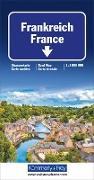 Frankreich Strassenkarte. 1:1'000'000 von Hallwag Kümmerly+Frey AG (Hrsg.)