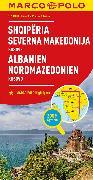 MARCO POLO Länderkarte Albanien, Nordmazedonien 1:500 000. 1:500'000