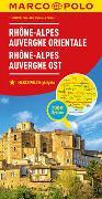 MARCO POLO Regionalkarte Frankreich: Rhône-Alpes, Auvergne Ost 1:300 000. 1:300'000