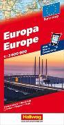 Europa Strassenkarte 1:3,6 Mio. 1:3'600'000 von Hallwag Kümmerly+Frey AG (Hrsg.)