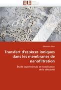 Cover-Bild zu Transfert d'espèces ioniques dans les membranes de nanofiltration von Deon-S