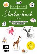 Bullet Journal Stickerbuch - Tiere: 800 Tiere aus aller Welt - von süß bis exotisch