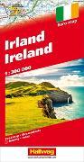 Irland 1:300 000 Strassenkarte. 1:300'000 von Hallwag Kümmerly+Frey AG (Hrsg.)