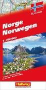 Norwegen Strassenkarte. 1:750'000 von Hallwag Kümmerly+Frey AG (Hrsg.)