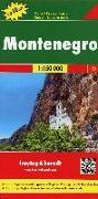 Montenegro, Autokarte 1:150.000, Top 10 Tips. 1:150'000 von Freytag-Berndt und Artaria KG (Hrsg.)