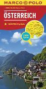 MARCO POLO Länderkarte Österreich 1:300 000. 1:300'000