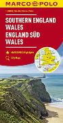 MARCO POLO Karte Großbritannien England Süd, Wales 1:300 000. 1:300'000