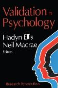 Cover-Bild zu Validation in Psychology (eBook) von Ellis, Hadyn (Hrsg.)
