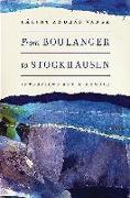 Cover-Bild zu Varga, Balint Andras: From Boulanger to Stockhausen