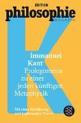 Cover-Bild zu Kant, Immanuel: Prolegomena zu einer jeden künftigen Metaphysik