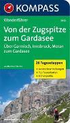 Cover-Bild zu Flucher, Bernhard: KOMPASS Wanderführer Von der Zugspitze zum Gardasee, Weitwanderführer