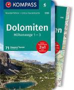 Cover-Bild zu Will, Michael: KOMPASS Wanderführer Dolomiten Höhenweg 1 bis 3. 1:50'000