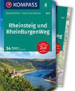 Cover-Bild zu Behla, Silvia und Thilo: KOMPASS Wanderführer Rheinsteig RheinBurgenWeg. 1:50'000