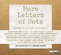 Cover-Bild zu More Letters of Note von Usher, Shaun (Hrsg.)