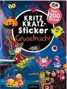 Cover-Bild zu Schindler, Eva (Gestaltet): Kritzkratz-Sticker Gruselnacht