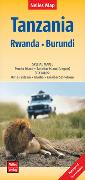 Cover-Bild zu Nelles Verlag (Hrsg.): Nelles Map Landkarte Tanzania - Rwanda - Burundi. 1:1'500'000