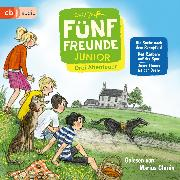 Cover-Bild zu Blyton, Enid: Fünf Freunde JUNIOR - Drei Abenteuer - Die Suche nach dem Rennpferd. Den Räubern auf der Spur. Unser Timmy ist der Beste (Audio Download)