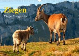 Cover-Bild zu Stanzer, Elisabeth: Ziegen. Kluge Freigeister (Wandkalender 2022 DIN A3 quer)