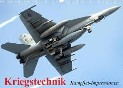 Cover-Bild zu Stanzer, Elisabeth: Kriegstechnik. Kampfjet-Impressionen (Wandkalender 2022 DIN A3 quer)