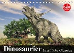 Cover-Bild zu Stanzer, Elisabeth: Dinosaurier. Urzeitliche Giganten (Tischkalender 2022 DIN A5 quer)