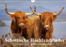 Cover-Bild zu Stanzer, Elisabeth: Schottische Hochlandrinder. Freundlich, schön und robust (Wandkalender 2022 DIN A4 quer)