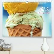 Cover-Bild zu Stanzer, Elisabeth: Eis. Cremiges Glück (Premium, hochwertiger DIN A2 Wandkalender 2022, Kunstdruck in Hochglanz)