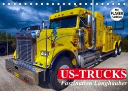 Cover-Bild zu Stanzer, Elisabeth: US-Trucks. Faszination Langhauber (Tischkalender 2022 DIN A5 quer)