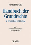 Cover-Bild zu Bauer, Hartmut: Handbuch der Grundrechte in Deutschland und Europa