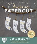 Cover-Bild zu Hollerith, Marie-Christine: Set: Christmas Papercut - Die Vorlagenmappe mit Anleitung und 20 weihnachtlichen Papierschnitt-Motiven zum Sofort-Loslegen