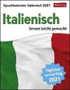 Cover-Bild zu Sprachkalender Italienisch Kalender 2021 von Butz, Steffen