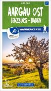 Cover-Bild zu Hallwag Kümmerly+Frey AG (Hrsg.): Aargau Ost Lenzburg - Baden 07 Wanderkarte 1:40 000 matt laminiert. 1:40'000