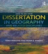 Cover-Bild zu How To Do Your Dissertation in Geography and Related Disciplines (eBook) von Parsons, Tony