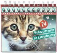 Cover-Bild zu 24 Weihnachtsgrüße für Katzenfreunde