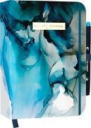 "Cover-Bild zu Bullet Journal ""Dramatic Watercolor"" mit original Tombow MONO edge Dual-Tip Highlighter sky blue"