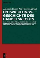 Cover-Bild zu Entwicklungsgeschichte des Handelsrechts (eBook)