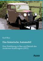 Cover-Bild zu Das historische Automobil von Blau, Karl
