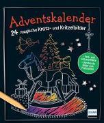 Cover-Bild zu Adventskalender - 24 magische Kratz- und Kritzelbilder von Frings, Sandra
