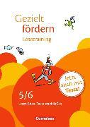 Cover-Bild zu Gezielt fördern 5./6. Schuljahr. Lesetraining. Arbeitsheft mit Lösungen von Boyke, Katrin